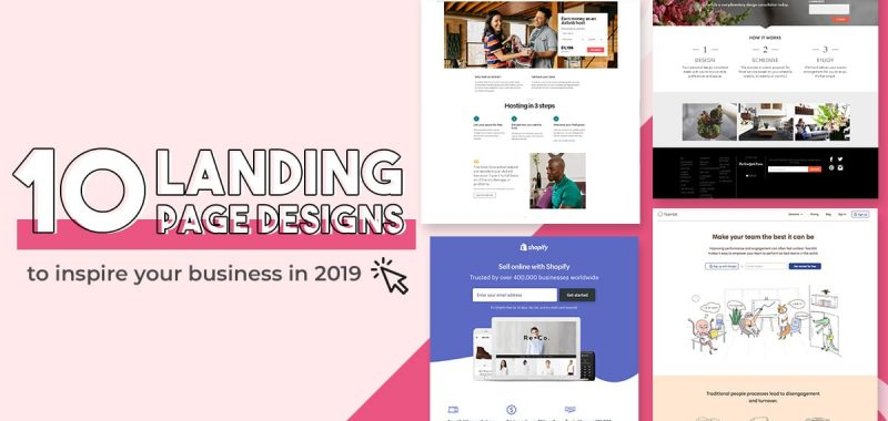 10 landing page designs to inspire your business in 2019