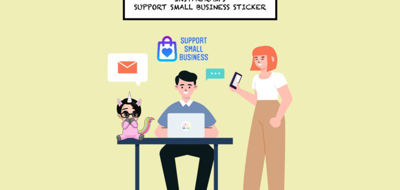 Instagram's support small businesses stickers