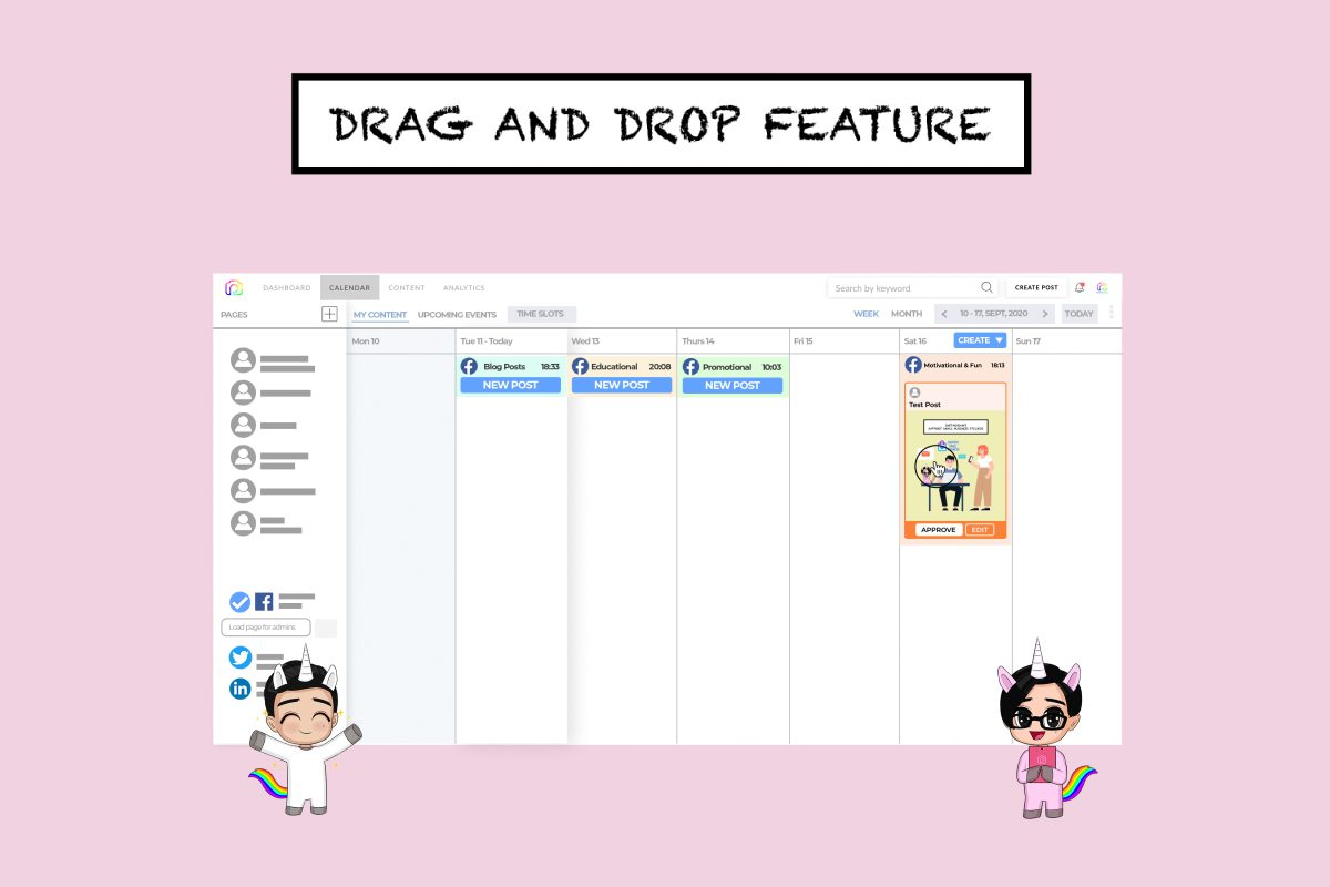 Drag and drop – easy way to schedule your posts