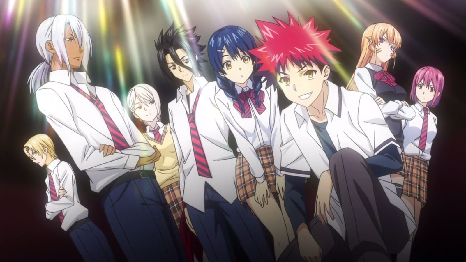Shokugeki no Soma anime new elite ten council group scene