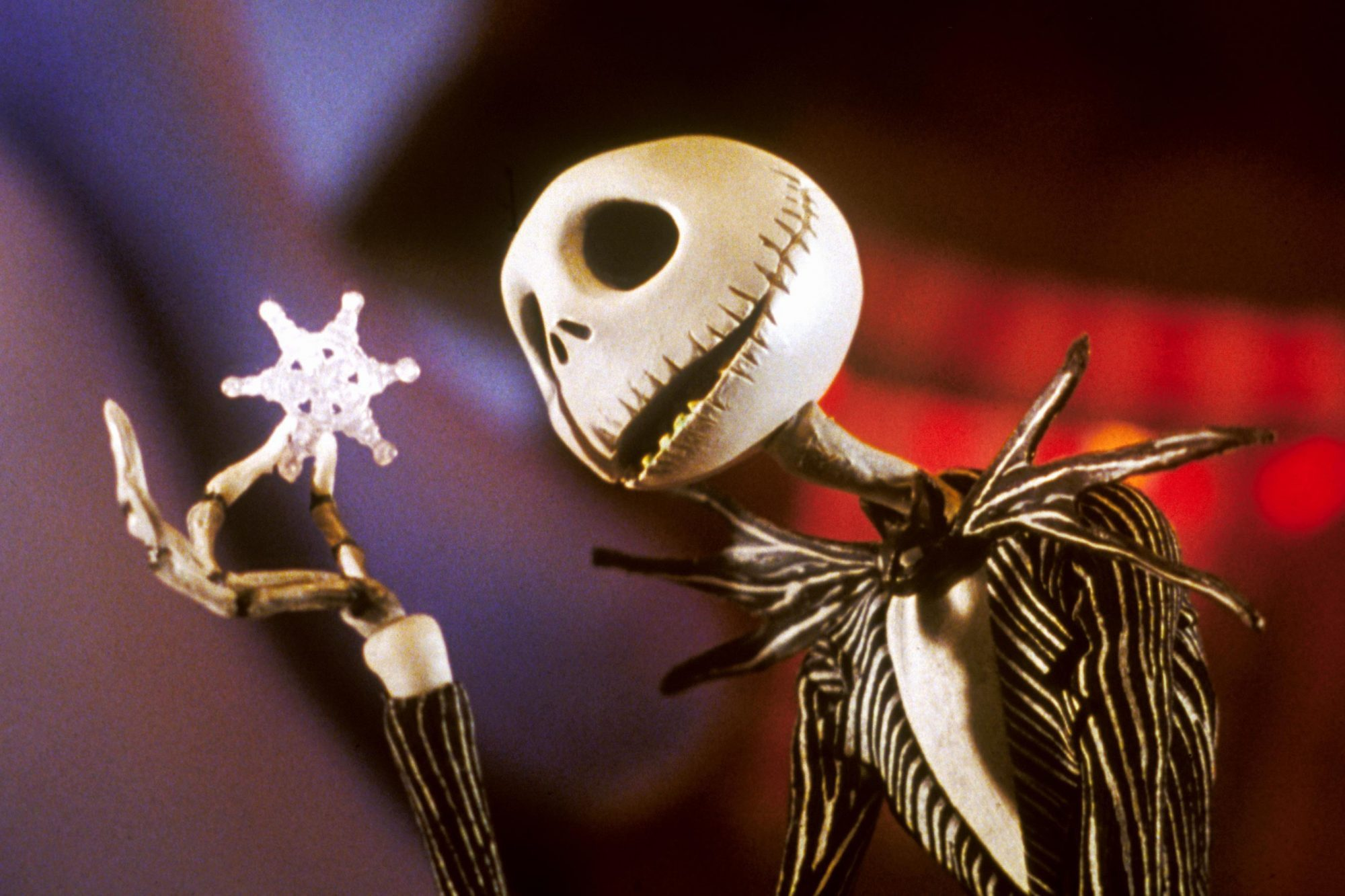 The Nightmare Before Christmas Jack Skellington holding snowflake