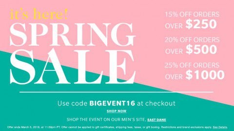 SALE Alert! Shopbop's Tiered Sale is BACK!