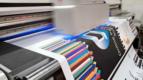 Preparing images for large format digital printing